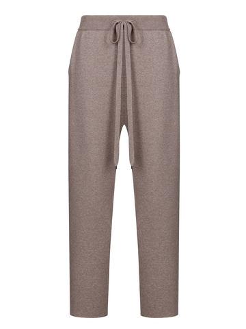 Женские брюки темно-кофейного цвета из вискозы - фото 2