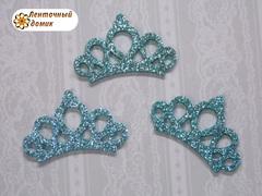 Заготовка корона маленькая голубая № 1
