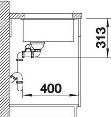 Мойка Blanco Subline 340/160-U схема