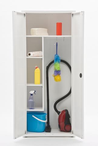 Шкаф медицинский металлический МЕТ ЭССЕН 2МУ, для уборочного инвентаря, разборный - фото