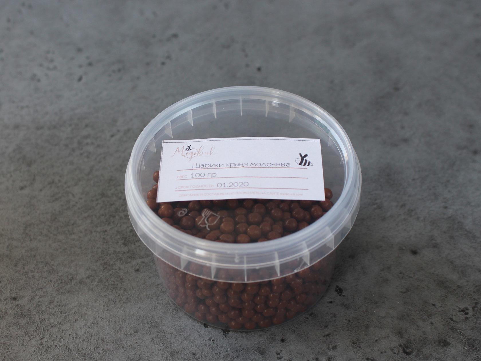 Шарики кранч молочные Callebaut, 100 гр