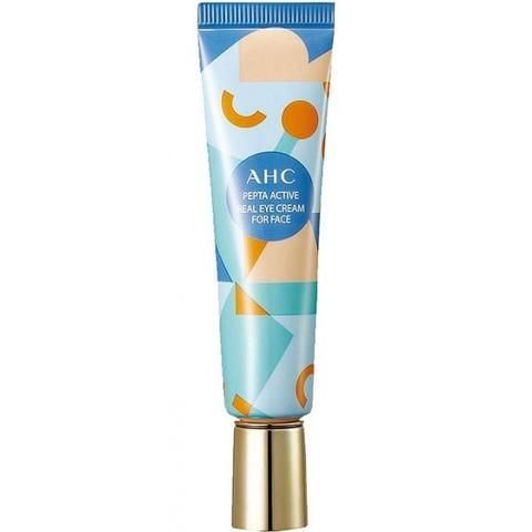 AHC Pepta Active Real Eye Cream For Face крем для век и лица осветляющий увлажняющий с фито-морским комплексом