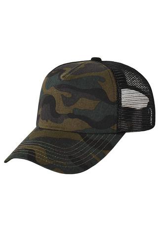 Камуфляжная кепка с сеткой фото спереди
