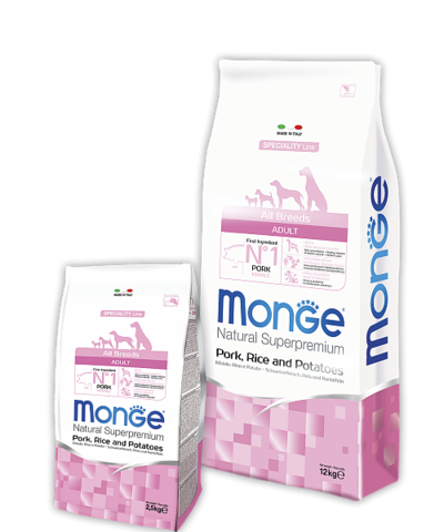Monge Speciality Line Adult Dog All Breeds Pork, Rice&Potatoes