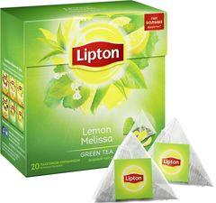 Чай зеленый Lipton лимон и мелисса  20 пирамидок