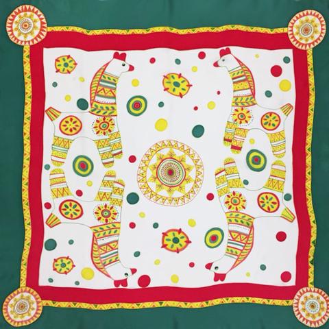 Шелковый платок батик Филимоновский С-60