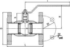 Конструкция LD КШ.Ц.Ф.GAS.250/200.016(025).Н/П.02 Ду250