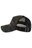 Камуфляжная кепка с сеткой фото сзади