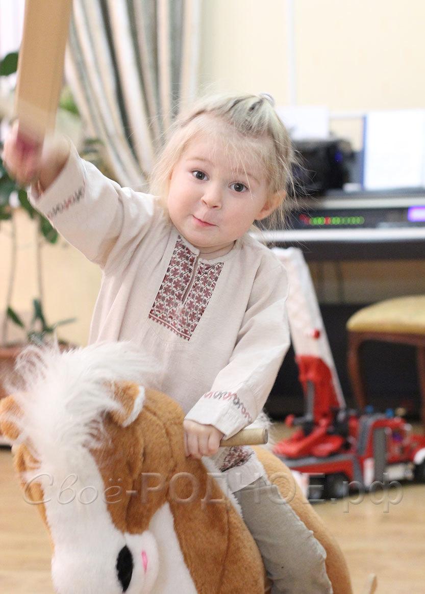 Льняная рубаха на мальчика в русском стиле Свое... Родное для Иванка