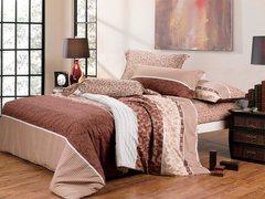 Сатиновое постельное бельё  1,5 спальное Сайлид  В-102
