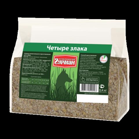 Четвероногий Гурман Каша для собак 4 злака (пакет)