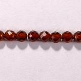 Бусина из граната оранжевого, фигурная, 4 мм (шар, граненая)
