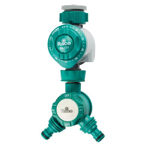 Таймер для подачи воды, механический в комплекте с распределителем 2х канальным, RACO