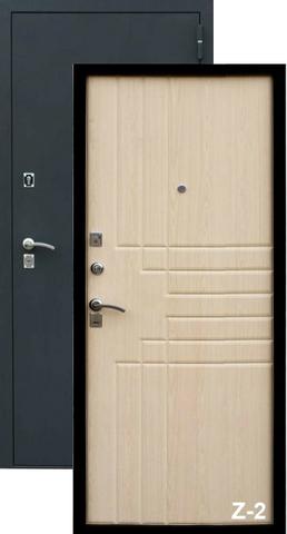 Дверь входная Z-2 стальная, клён, 2 замка, фабрика Зевс