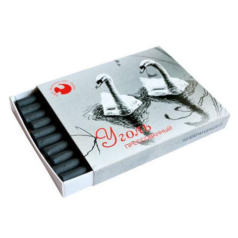 Уголь прессованный в картонной коробке 10 штук