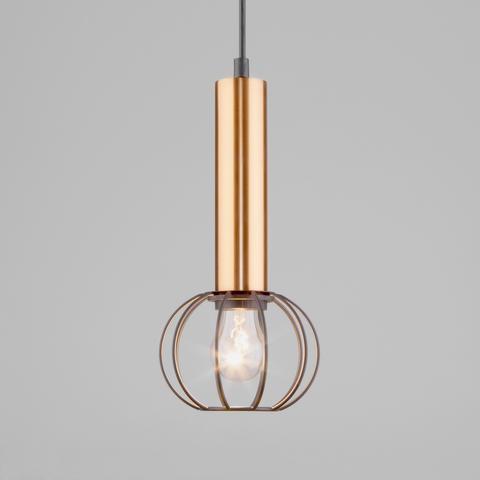 Подвесной светильник 50178/1 черный/бронза