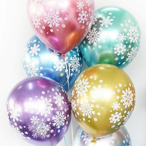 Воздушные шары Снежинки Хром