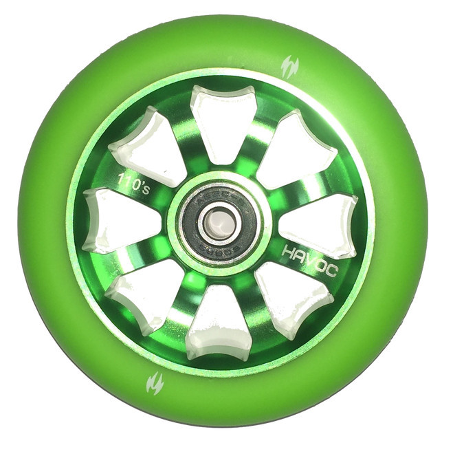 Колесо для самоката HAVOC 110mm (Green on Green)