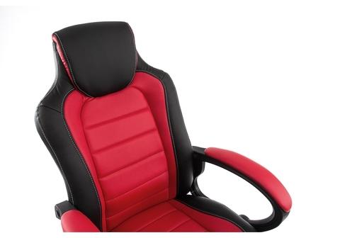 Офисное кресло для персонала и руководителя Компьютерное Kadis темно-красное / черное 62*62*100 Черный пластик /Черный / красный