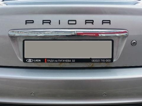 Орнамент PRIORA в стиле Porsche (черный)