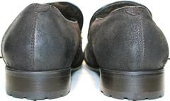 Повседневные туфли мужские мокасины кожаные зимние Welfare 555841 Dark Brown Nubuk & Fur.