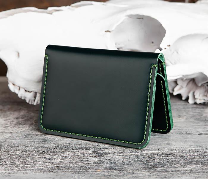 WB170-4 Обложка ручной работы из кожи зеленого цвета фото 03