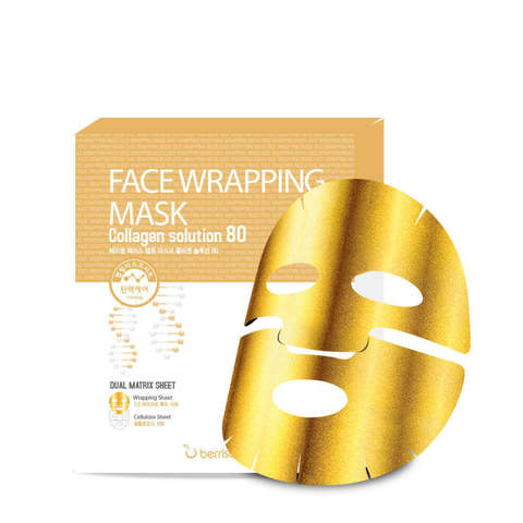 Berrisom Маска для лица с коллагеном Face Wrapping Mask Collagen Solution 80, 1 шт