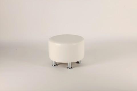 Пф-103 Пуфик круглый для магазина (белый)