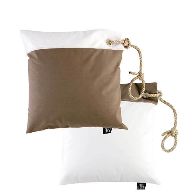 Cushion case set with filling / waterproof / brown
