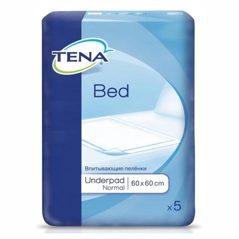 Пеленки одноразовые TENA Bed Underpad Normal 60*60 см 5 шт ПОЛЬША