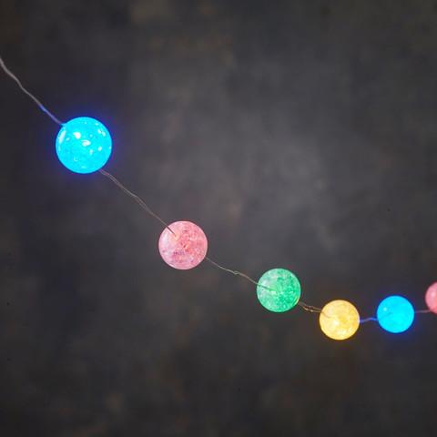 Гирлянда с разноцветными шариками с режимом мигания