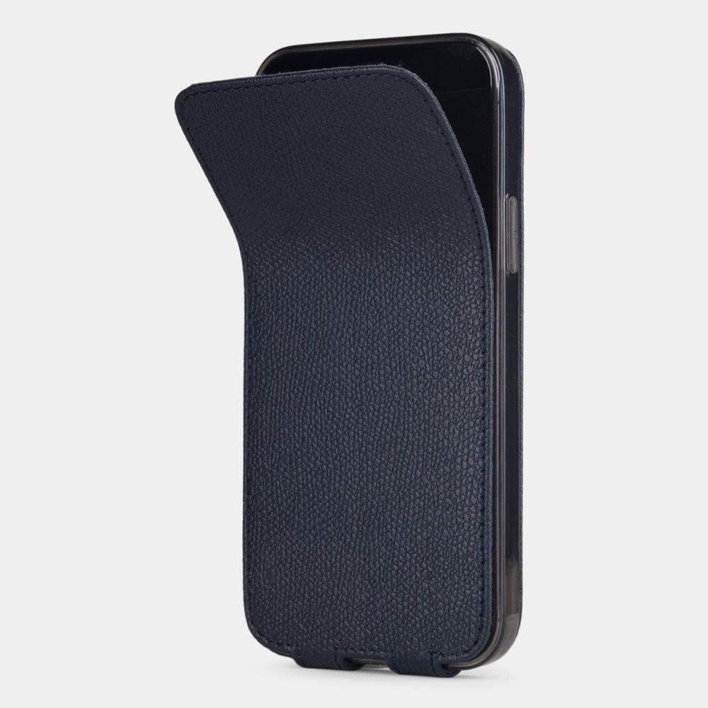 Special order: Чехол для iPhone 12 Pro Max из натуральной кожи теленка, синего цвета