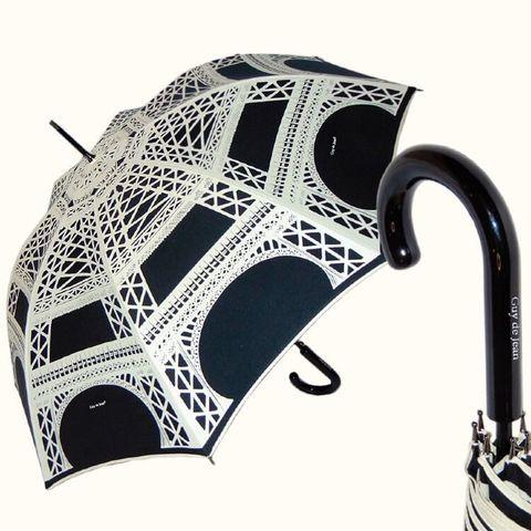 Чёрный женский зонт эйфелева башня, париж