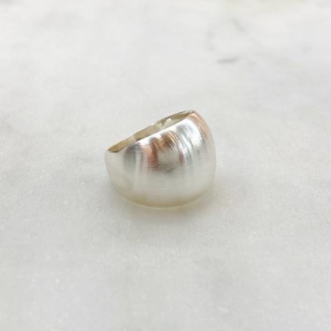 Кольцо базовое с сатиновым эффектом (серебристый)  Vi