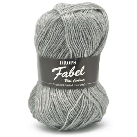 Пряжа Drops Fabel 115 светло-серый