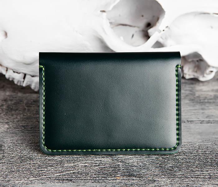 WB170-4 Обложка ручной работы из кожи зеленого цвета фото 04