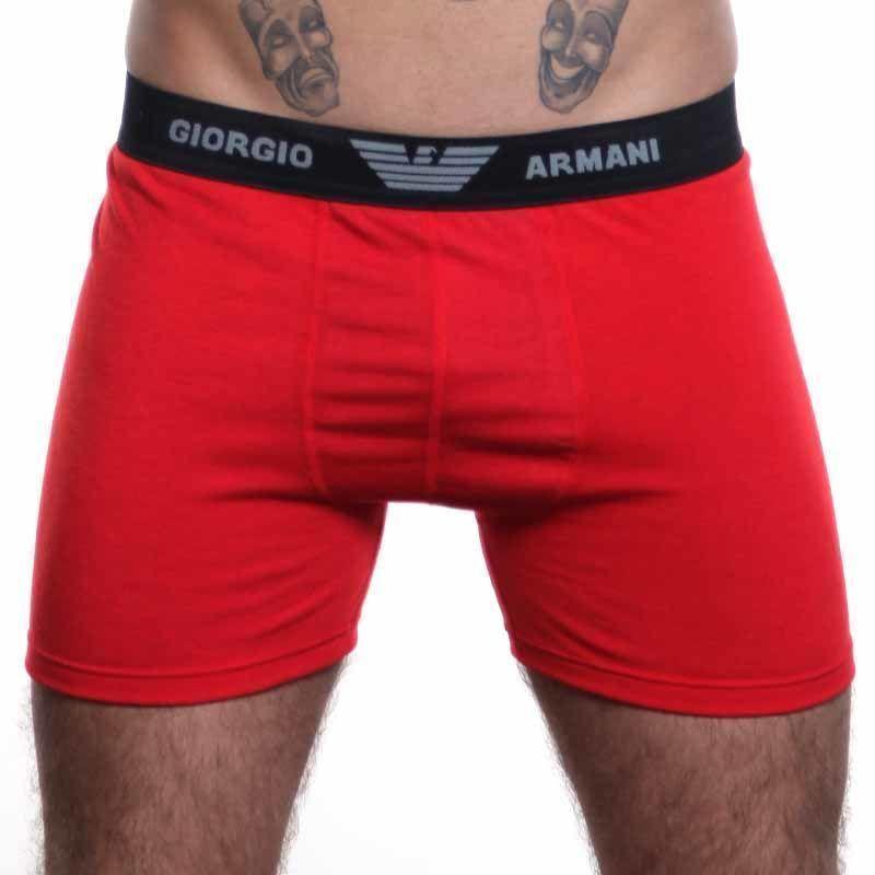 Мужские трусы боксеры удлиненные Emporio Armani красные
