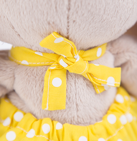 Зайка Ми в желтом комбинезоне с ромашкой (большая)