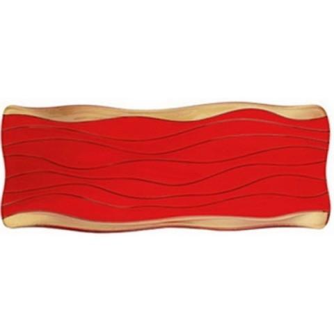 Блюдо прямоугольное красно-золотое артикул 84845. Серия Ocean