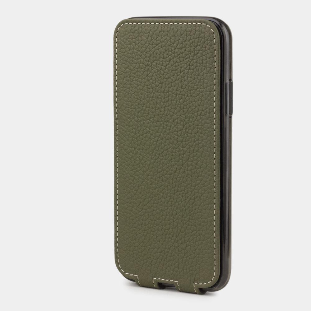 Чехол для iPhone X/XS из натуральной кожи теленка, зеленого цвета