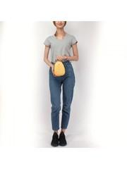 Желтая сумка из искуственной кожи