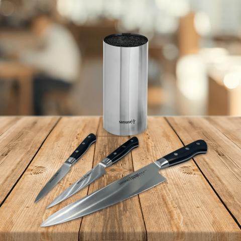 Набор из 3 ножей Samura PRO-S и подставки KBA-100
