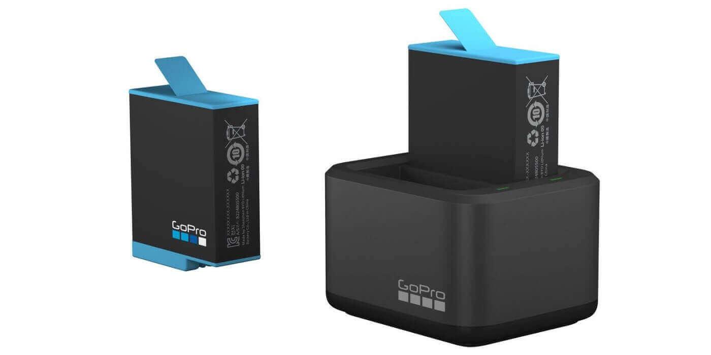 Зарядное устройство для двух аккумуляторов GoPro HERO9 Dual Battery Charger + Battery