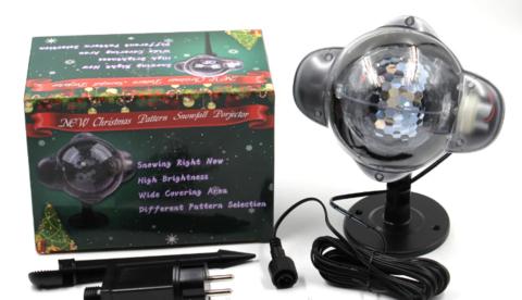 Лазер уличный WL-809 лазерный проектор (разноцветный снегопад)