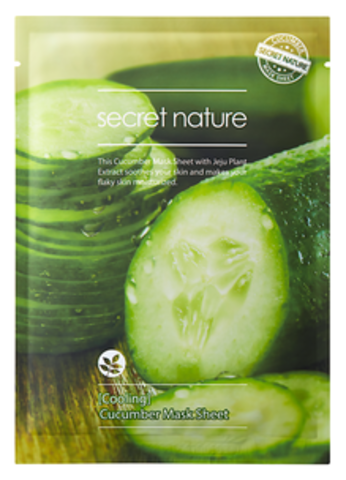 Secret Nature Cucumber Mask Sheet Cooling Освежающая маска для лица с огурцом 25мл
