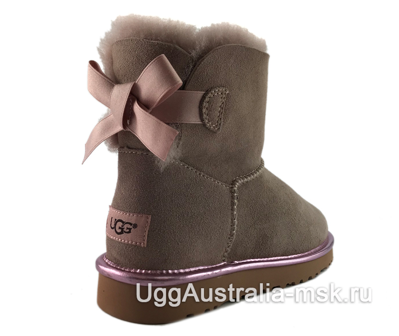 UGG Mini Bailey Bow II Metallic Dusk