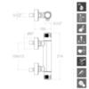 Смеситель термостатический для душа с душевым комплектом TERMOTECH 963401NL - фото №2