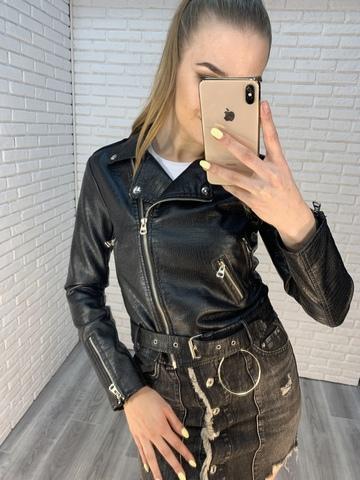 кожаная куртка-косуха женская недорого