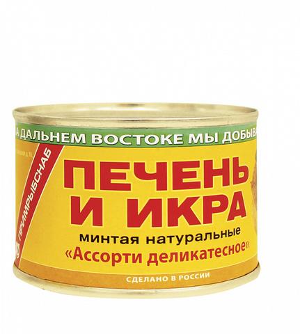 Печень и икра минтая МИНИМАРКЕТ 0,14кг