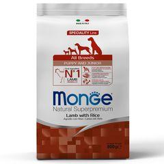 Корм для щенков Monge Puppy&Junior с ягненком и рисом